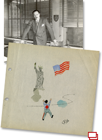 A dossier of images about the United Jewish Refugee and War Relief Agencies.